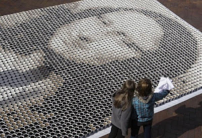 Mona Lisa Recreated With Cups Of Coffee (6) 2