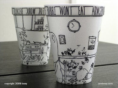 Art On Styrofoam Cups (11) 5