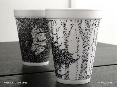 Art On Styrofoam Cups (11) 2