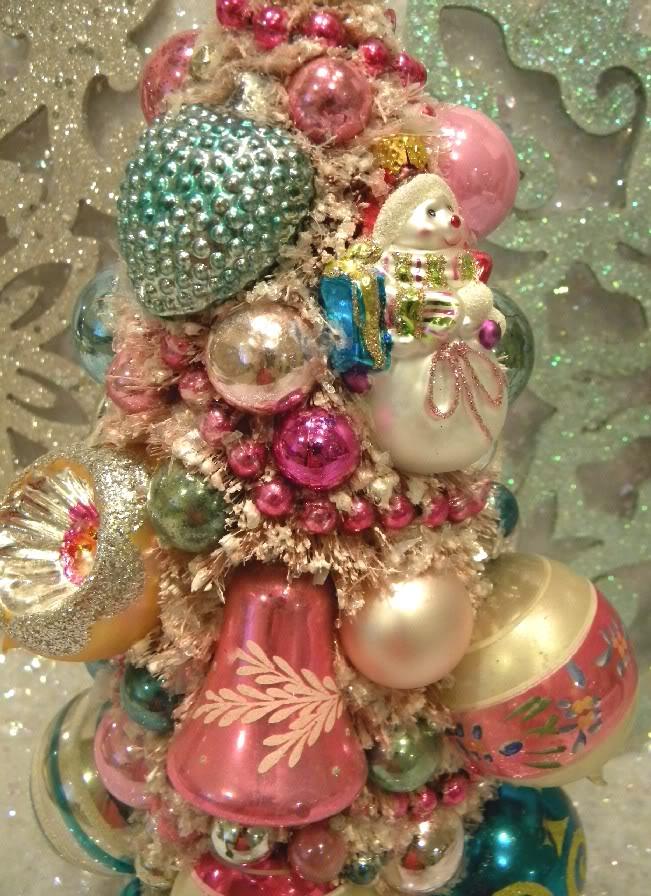 Ms Bingles Vintage Christmas 3 Bottle Brush Trees