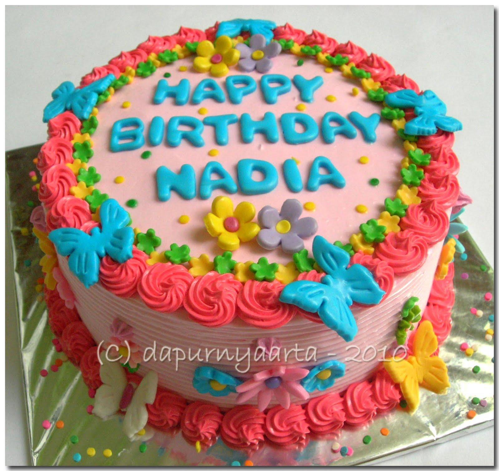 Happy Birthday Nadia Cake