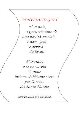 Poesia Di Natale Per Bambini 2 Anni.La Scuola In Cartella Poesie Di Natale