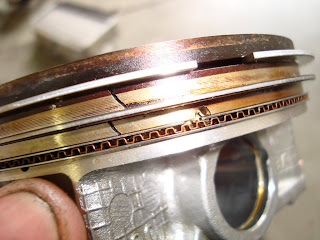 Pinched Piston Ring Damage