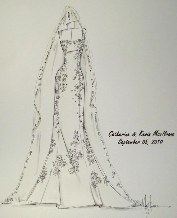 Sketches Of Wedding Gowns: Atelier Renee: Custom Wedding Gown Sketch