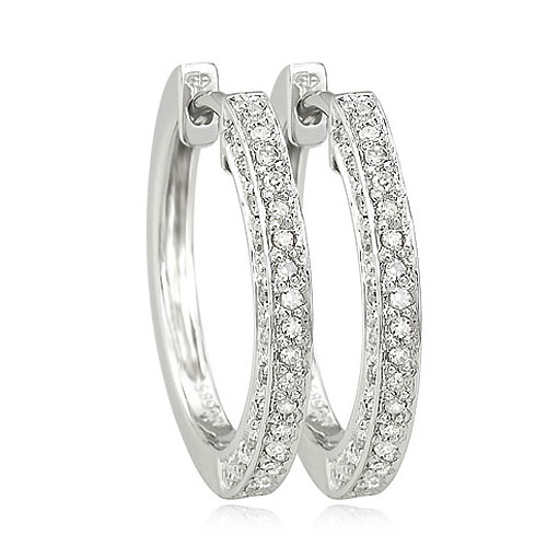 Hoop Diamond Earrings
