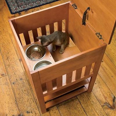 Catnip Alley Studio Blog Dog Proof Cat Feeding Station