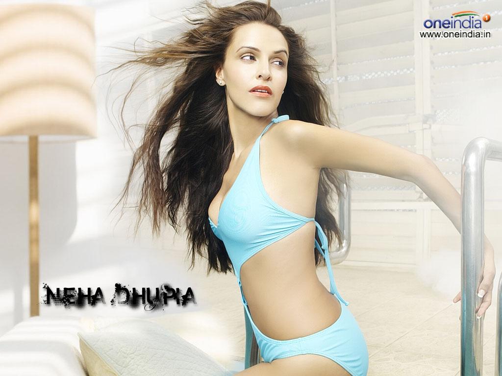 Neha Dhupia Hot Bikini Wallpapers