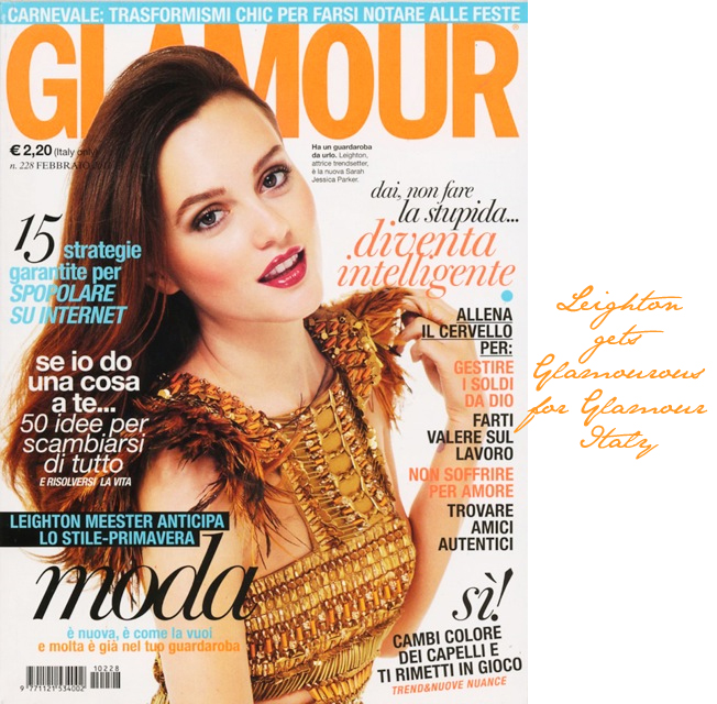 Guardaroba Gossip Girl.Fashion Foie Gras Leighton Meester Covers Glamour Italy