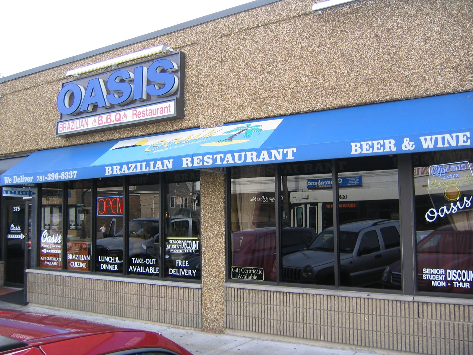 Oasis Brazilian Restaurant 373 Main Street Medford Ma 02155