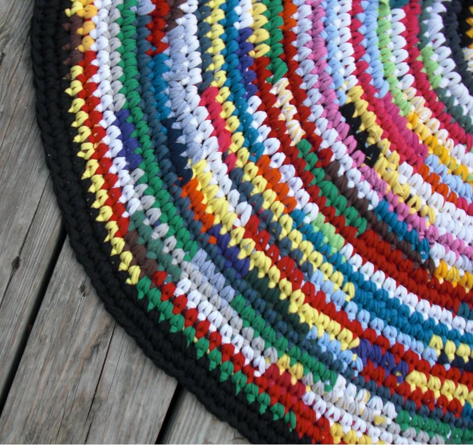 Crochet A Rag Rug Instructions: FREE CROCHETED RUG PATTERNS