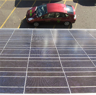 Hourcars solar panel and plug-in prius