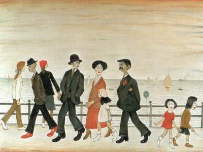 L.S. Lowry (1887 - 1976) . Um pintor modernista inglês.