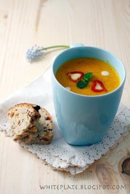 Zupa Krem Marchewkowo Pomarańczowy White Plate