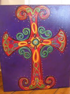 Ooh Wee Designs Cross Paintings