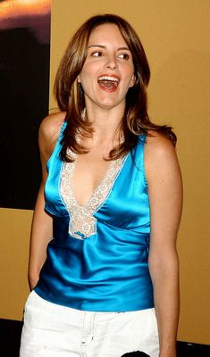 ladies in satin blouses tina fey various pictures