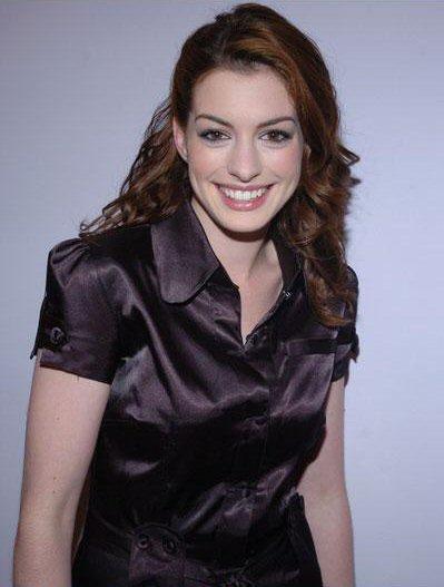 Ladies In Satin Blouses Anne Hathaway Black Satin