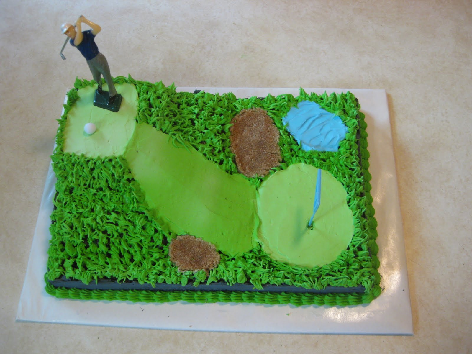 Cakes By The Sugar Cains David S Birthday Golf Course Cake