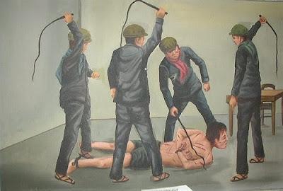 Een van de schilderijen van Vann Nath