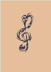 betsch-art: tattoo - notenschlüssel