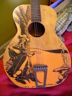yard sale snoop yesterday 39 s finds vintage cowboy guitar and more. Black Bedroom Furniture Sets. Home Design Ideas