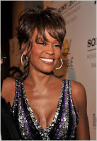 Whitney Houston At Clive Davis Party