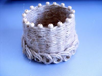 Мастер-класс Плетение: Плетеная корзиночка.  Шпагат.  Фото 1.