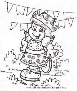 Fábrica dos Convites: Festa Junina: Desenhos para Colorir