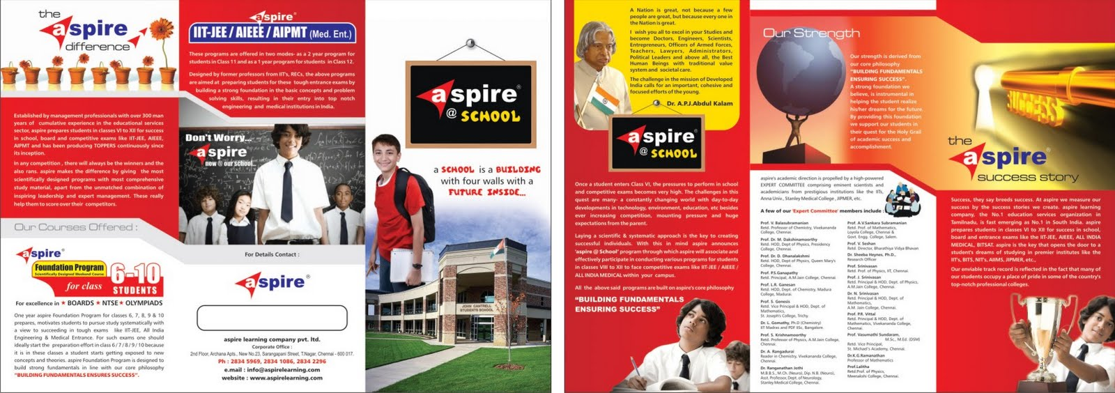 Sanjeev Sample Designs: aspire @ School Brochure