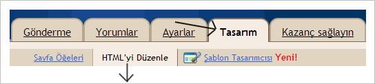 HTML'yi düzenle