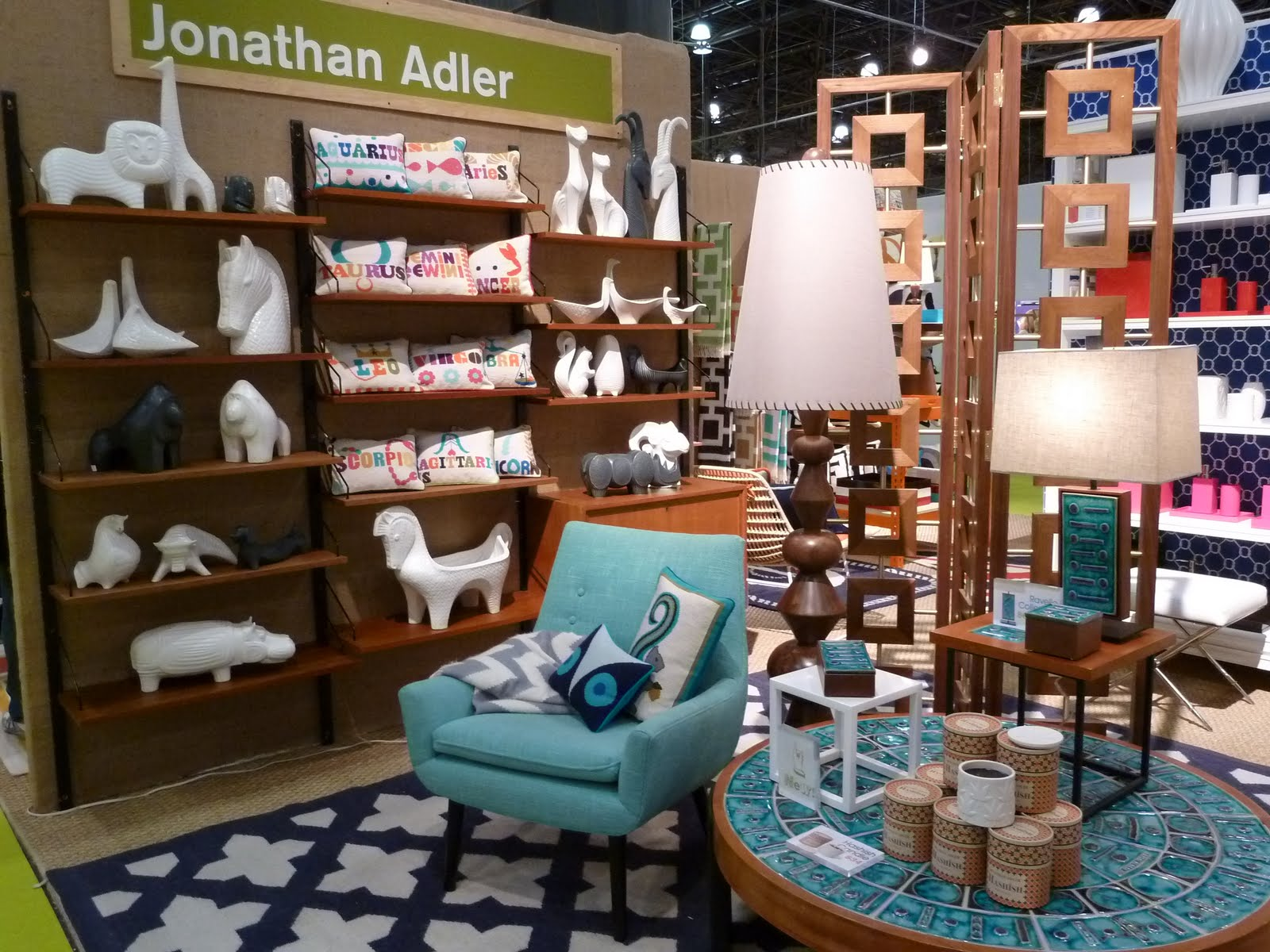 Since The Jonathan Adler Booth Is First One That Greets Me As I Tour Accent On Design Section Of New York International Gift Fair