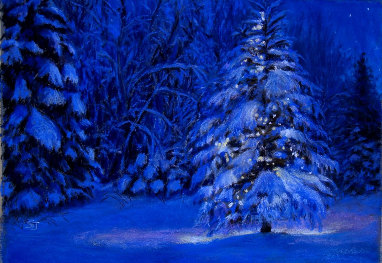 Monet cafe 39 with susan jenkins natural christmas tree - Christmas nature wallpaper ...