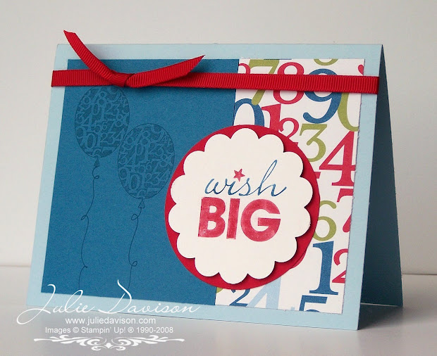 Idea Stampin Up Birthday Card
