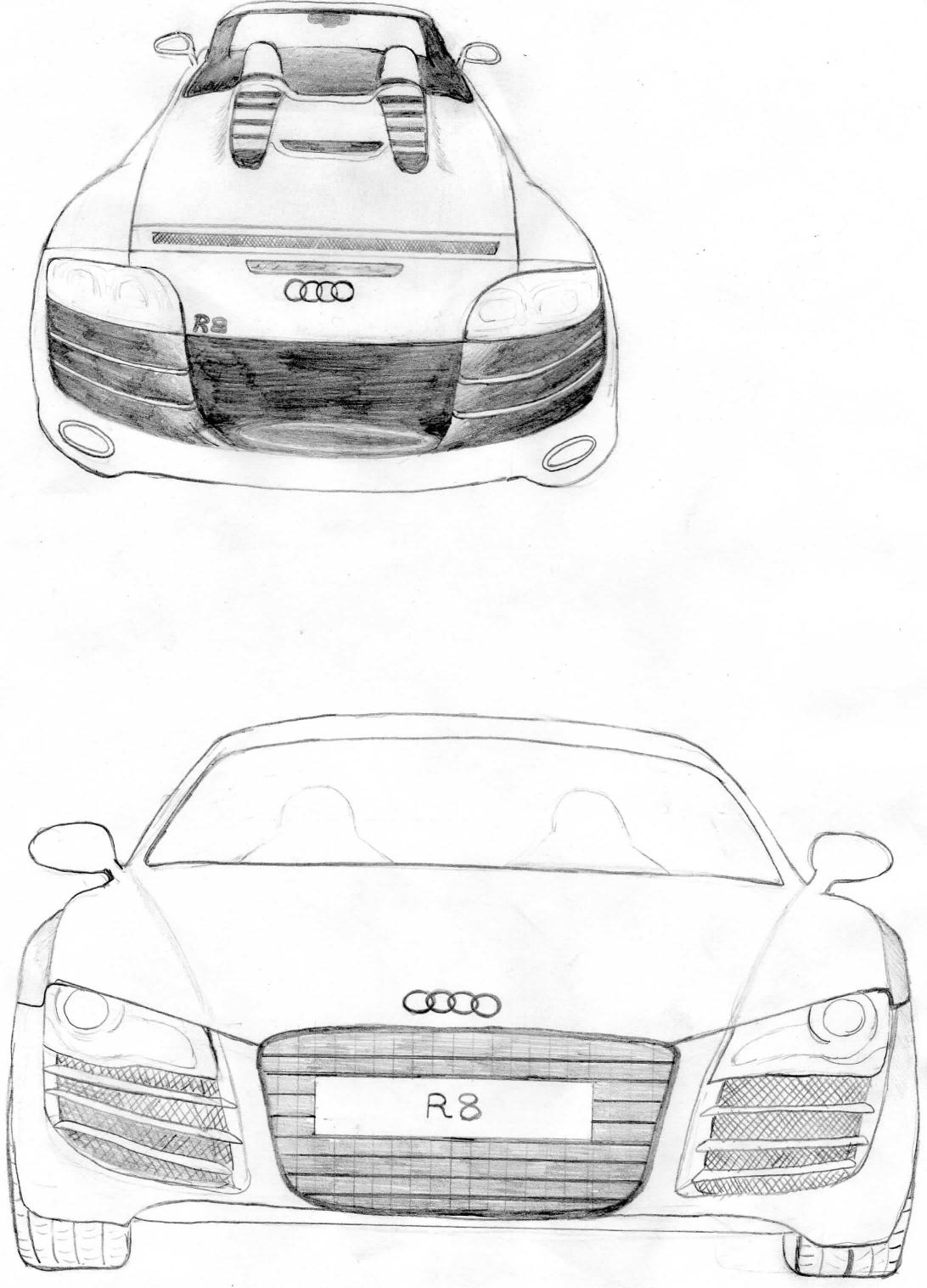 Auto Sportive Berzelius Audi R8 I Miei Disegni Fronte E
