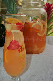A blend of white wine, lemon, pineapple, orange, apple and strawberries, it's a perfect party cocktail for spring and summer!