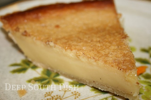 A very basic, old fashioned egg custard pie.