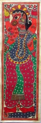 The Green Elephant Indian Folk Art Madhubani Paintings