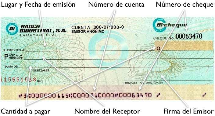 soportes de contabilidad  el cheque