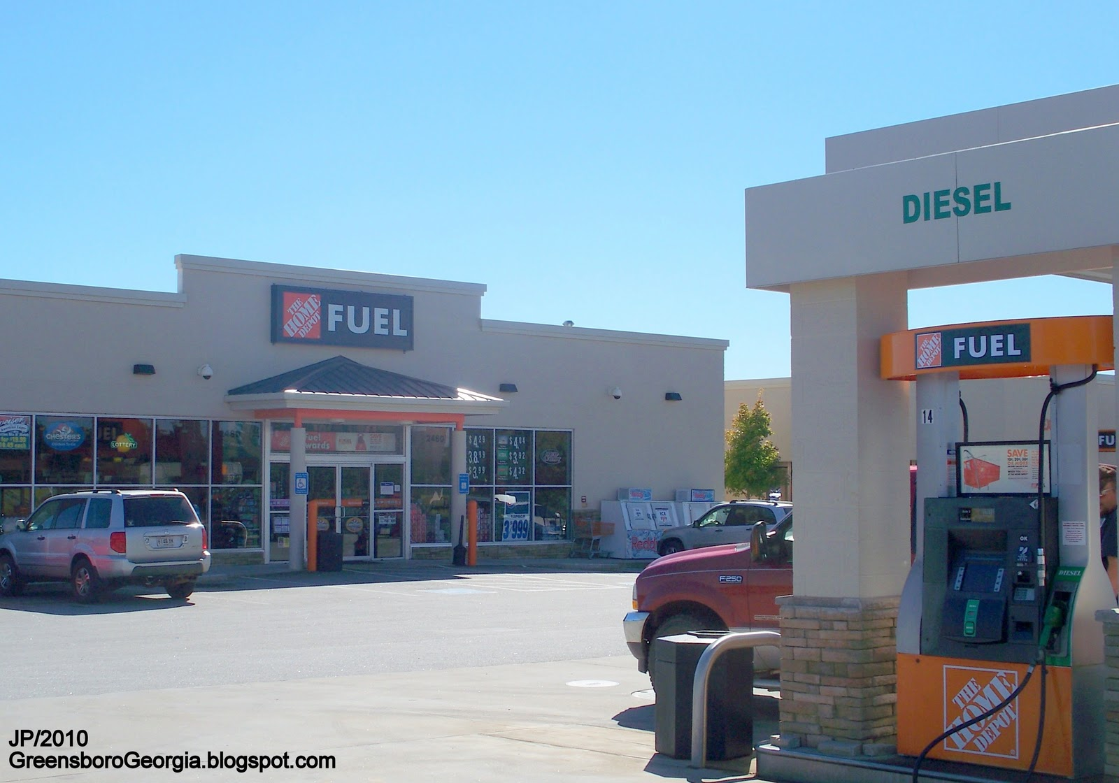 A Home Depot Gas Station in Greensboro GA 1600x1120 OS  retailporn