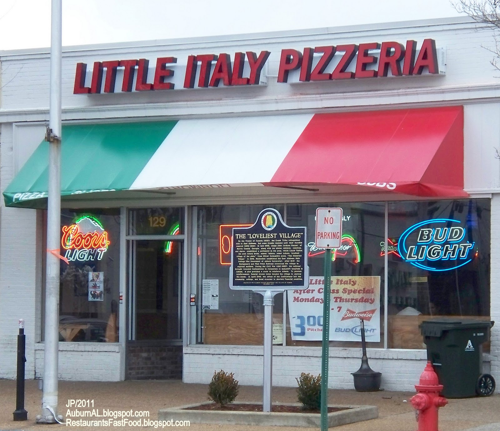 Little Italy Pizza Auburn Alabama Pizzeria Restaurant Al