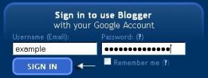 login t -blogger