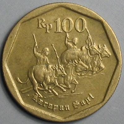 100 rupiah, bergambar karan sapi