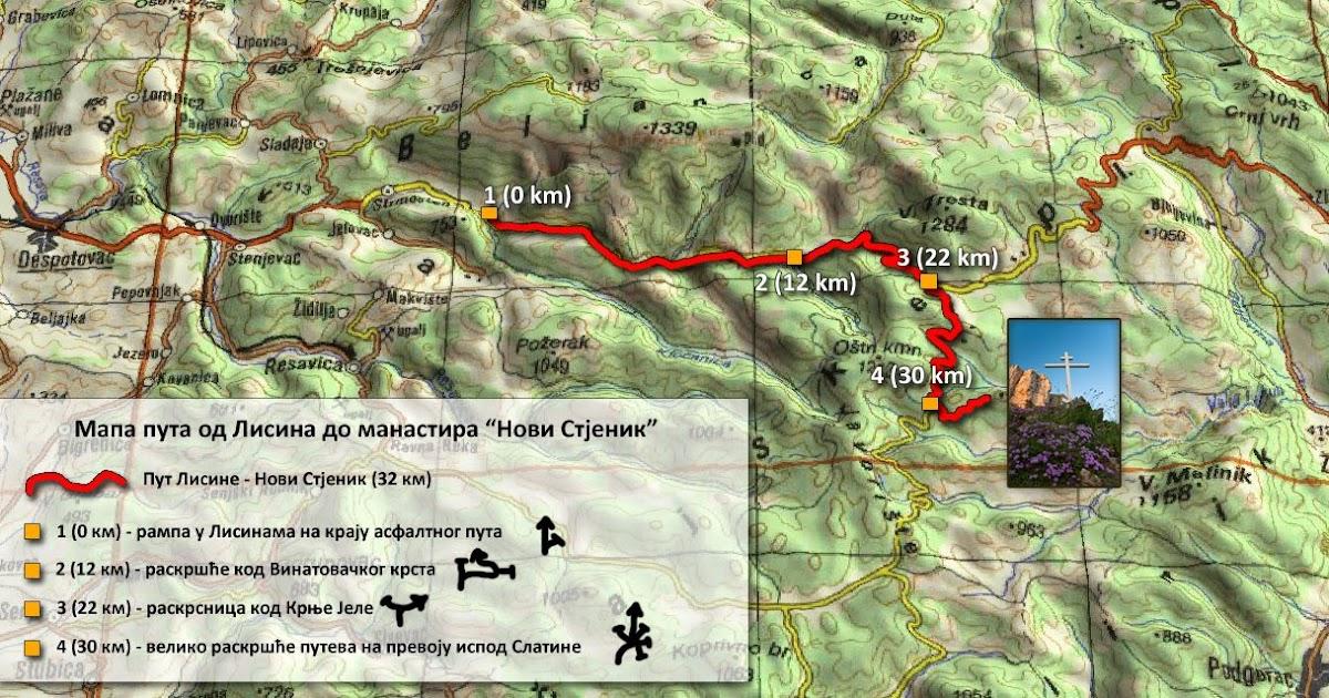 Stјenichanka Ilustrovana Mapa Vodich