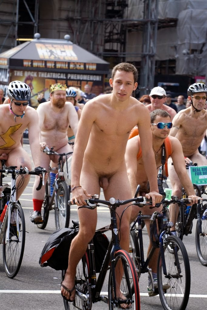 Sportsman Bulge Naked  Public Nude Cycling-8652