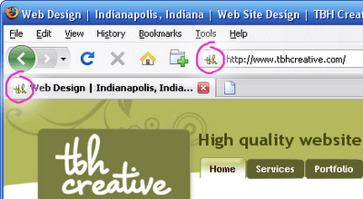 Favicon Sample - TBH Creative Indianapolis Web Design
