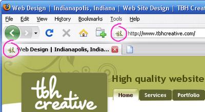 Favicon Sample - TBH Creative Indianapolis Web Design