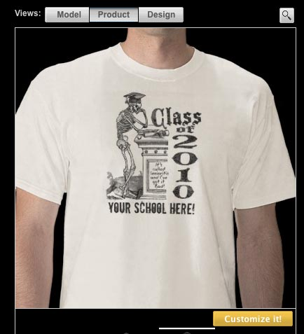 41f3e02d Customizable Class of 2010 Skeleton Shirt @ Zazzle Great News... Mudge's  Senioritis design was recognized by Zazzle. You Are In Today's Best Hi  mudgestudios ...
