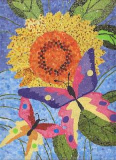 Gambar Mozaik Bunga Dari Kertas Origami Kata Kata