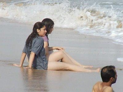 Caliente desnudo mujeres de playa