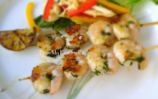 Mint and Garlic Prawns
