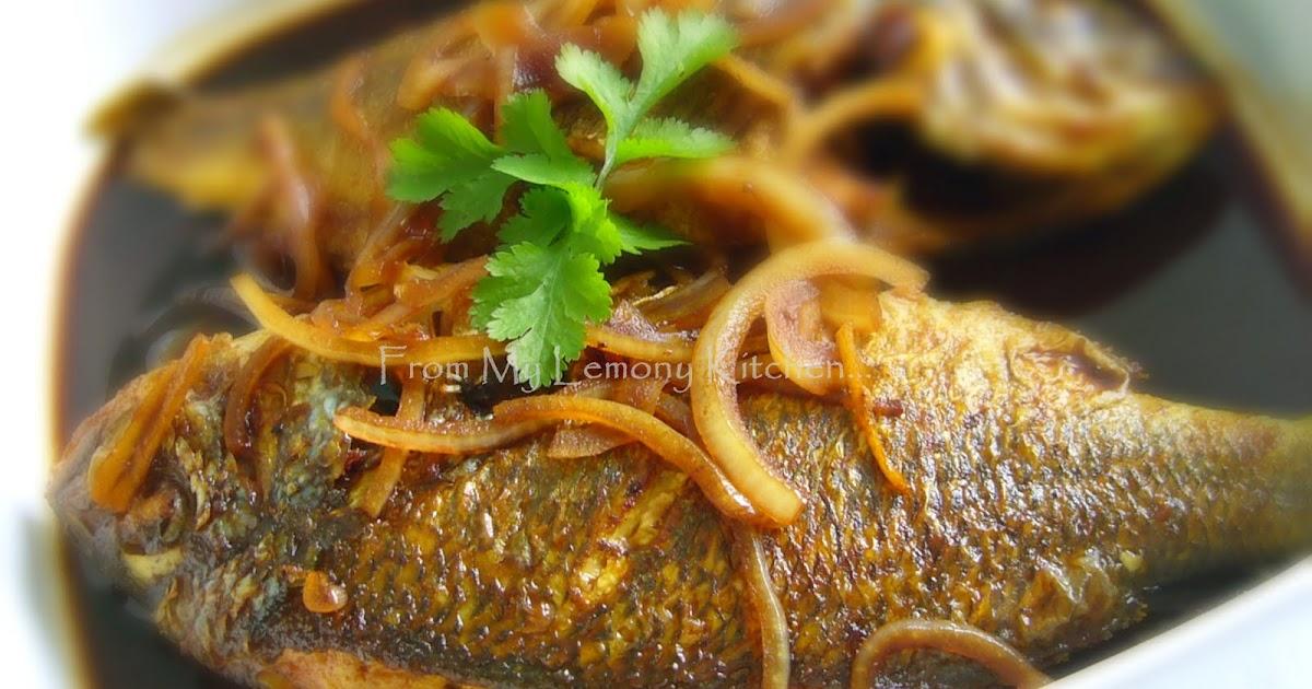 Ikan Masak Asam Kicap/ Fish in Sweet Tamarind Sauce - Lisa's Lemony Kitchen